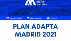 Cartel con el Plan Adapta Madrid 2021